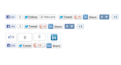 EXT Social buttons plugin